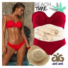 """Ani Ani"" by gaby-mil ❤ liked on Polyvore featuring swimwear, beachwear, resortwear, luxury and aniani"