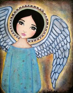 """""""Angel Glow"""" (2008), By Lisa Lectura, Mixed Media, Lisa Lectura Creations. San Francisco Bay Area, CA, United States. Artist's Site: http://tinyurl.com/mny4h9e #angels"""