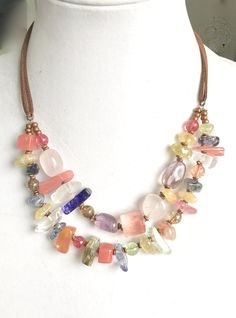 """Exquisite 7-8MM 3 Rows White Akoya Pearl and Red Ruby Necklace 17/"""" 19/'/' 20/"""""""