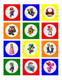 Super Mario Bros Inspired Printable Cupcake by jenniferwhitaker