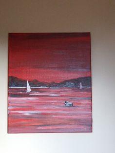 fond marin rouge