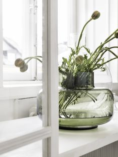 Marimekko's olive green Urna vase