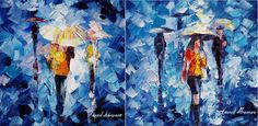 RAIN OF LOVE SET OF 2- PALETTE KNIFE Oil Painting On Canvas By Leonid Afremov - https://afremov.com/RAIN-OF-LOVE-PALETTE-KNIFE-Oil-Painting-On-Canvas-By-Leonid-Afremov-Size-16-X40-EACH-SKU20792.html?utm_source=s-vpin&utm_medium=/vpin&utm_campaign=ADD-YOUR #xoxo #insta_pick_blossom #paintings #monoart #monochrome #mural #murals #myart #onlineart #summer #markers #model #mono #swag #together #smile