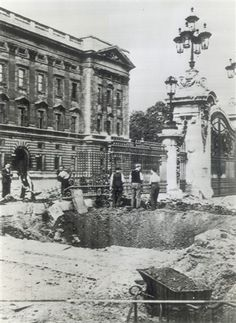 On this day 13th September, 1940 Buckingham Palace was bombed during the Blitz, on 16 separate occasions bombs were dropped on the palace, nine of which were direct hits ( Photo:Bomb damage outside Buckingham Palace, September 1940)