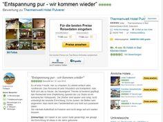 Hotelbewertung Thermenwelt Hotel Pulverer auf Tripadvisor http://www.tripadvisor.at/ShowUserReviews-g641721-d1222982-r210019507-Thermenwelt_Hotel_Pulverer-Bad_Kleinkirchheim_Carinthia_Austrian_Alps.html#CHECK_RATES_CONT