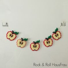 Rock & Roll HausFrau: @minkreativeuge dag 2: Hama-æbler
