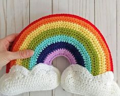 Curated Gifts They'll Keep Forever por YalisAndYabosCrochet en Etsy Crochet Stitches Patterns, Baby Patterns, Stitch Patterns, Rainbow Nursery, Rainbow Baby, Rainbow Crochet, Crochet Baby, Rainbow Decorations, Rainbow Colors