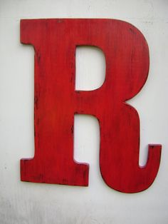 Large 2 foot wooden letter sign wall hanging decoration