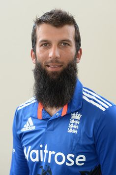 Moeen Ali Photos - Moeen Ali of England poses for a portrait at Zayed Cricket Stadium on November 2015 in Abu Dhabi, United Arab Emirates. - England One Day Squad Portraits Hairy Men, Bearded Men, World Cricket, Awesome Beards, New International Version, Beard Care, One Day, My Boyfriend, Squad