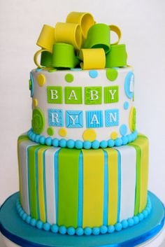 Baby Boy Shower Cake