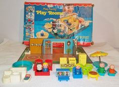 Vintage Fisher Price 909 Play Family Play Rooms Near Complete Orig Box Vintage Stuff, Vintage Toys, Retro Vintage, Fisher Price Toys, Vintage Fisher Price, Play Rooms, Little People, Back In The Day, Childhood Memories