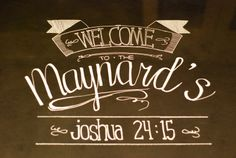Maynard made: fake chalkboards