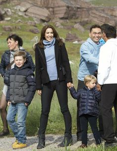 The Danish Crown Prince Family on their first day of the summer tour in Greenland.