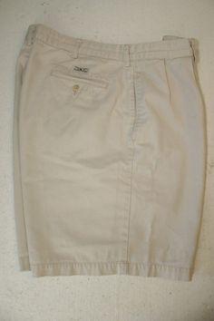 cc8d6a302 Polo Ralph Lauren Tyler Single Pleat Casual Golf Shorts Mens 36 Zipper 2876