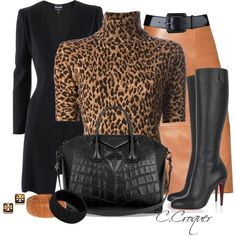 A fashion look from December 2013 featuring brown shirts, Giorgio Armani and red skirt. Browse and shop related looks. Swag Outfits For Girls, Dressy Outfits, Chic Outfits, Fashion Outfits, Womens Fashion, Skirts With Boots, Skirt Boots, Printed Skirt Outfit, Work Fashion
