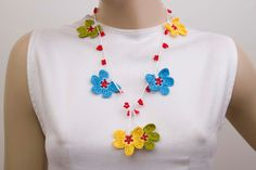 Beaded necklace crochet bead work  necklace jewelry  by SenasShop