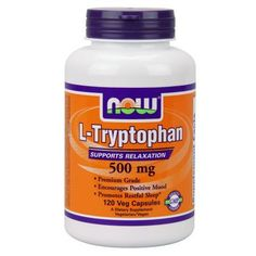 NOW Foods L-Tryptophan 500 Mg 120 Vegetarian Capsules
