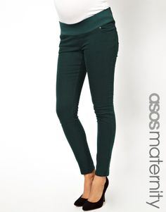 Forest green maternity skinnies!