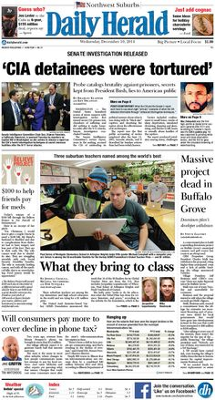Daily Herald front page, Dec. 10, 2014; http://eedition.dailyherald.com/