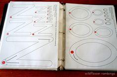 Preschool Handwriting Notebook {free printable!} - Wildflower Ramblings