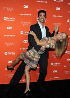 Gilles Marini (Angelo) sure learned a lot from Dancing with the Stars! And Marlee Matlin (Melody) makes such a good dancing partner! Gilles Marini, Freeform Tv Shows, Marlee Matlin, Switched At Birth, Red Band Society, 2 Broke Girls, Abc Family, Book Launch, Girl Meets World