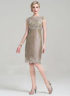 Renda Mãe Da Noiva Vestido terno jaqueta de comprimento no joelho 2 Peças vestidos de noite formal
