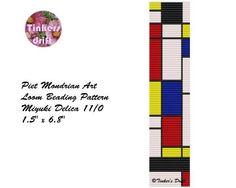 (5) Name: 'Jewelry : Piet Mondrian Wide Bracelet Pattern