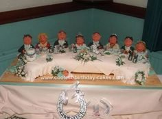 Homemade Top Table Wedding Cake: This homemade top table wedding cake was made for my niece last year. When she asked me if I could do it I was a bit worried that it wouldn't travel very