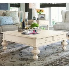 Paula Deen Home Put Your Feet Up Square Cocktail Table by Paula Deen by Universal - Baer's Furniture - Cocktail or Coffee Table Miami, Ft. Lauderdale, Orlando, Sarasota, Naples, Ft. Myers, Florida