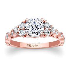 Barkev's Rose Gold Engagement Ring 7975LP