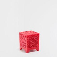 Vela cubo roja