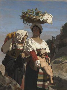 Jean-Léon_Gérôme,_Deux_Paysannes_italiennes_et_un_enfant.jpg (599×800)