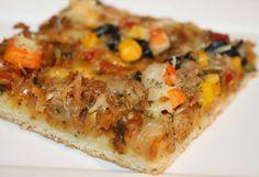 Pizza maken van brooddeeg