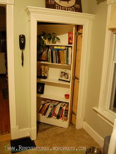Bookcase Door Opens to Reveal Hidden Passage to Basement