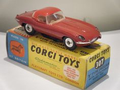 "Corgi No: 307 ""Jaguar E Type With Hardtop"" - Red (Boxed/Original 1960's)"