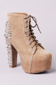Jeffrey Campbell Spike in Taupe Suede
