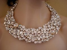 Swarovski+Crystal+Bridal+Jewelry   -swarovski-statement-necklace-bridal-necklace-crystal-bib-necklace ...