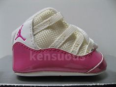 FIRST JORDAN 11 XI RETRO NIKE BABY SHOES WHITE PINK AIR infant crib 0c NEW