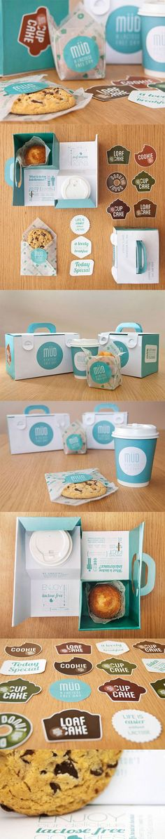 Cute packaging idea for cookies and coffee. Looks clean and compact.