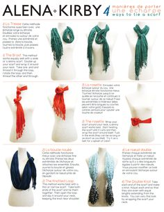 How to tie a scarf - love these!