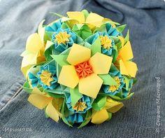 Кусудама Оригами Цветочные кусудамы Часть 1 Бумага фото 2