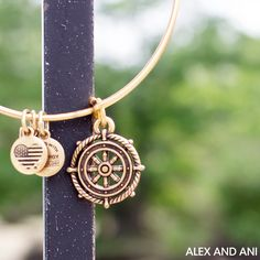ALEX AND ANI CHARITY BY DESIGN Take The Wheel Charm Bangle!