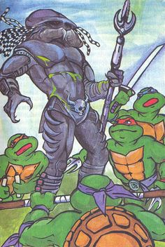Teenage Mutant Ninja Turtles take on Predator in Russian Children's Book — GeekTyrant Sci Fi Horror, Horror Art, Sci Fi Art, Teenage Mutant Ninja Turtles, Predator, Zine, Childrens Books, Fantasy, Comics
