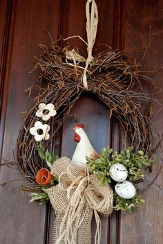 Wunderschöne Ostern Kranz Ideen You are in the right place about spring wreath Easter Wreaths, Christmas Wreaths, Christmas Crafts, Christmas Decorations, Diy Wreath, Wreath Ideas, Advent Wreath, Wreath Burlap, Door Wreaths