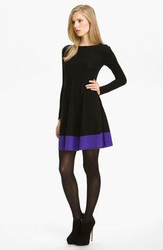 Colorblock Flared Dress