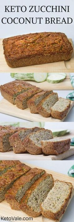 Wow you must try this easy and tasty Keto Zucchini Coconut Bread! A combination of zucchini and coconut flour will give it the amazing flavor! #keto