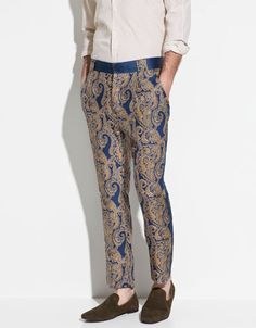 PRINTED SILK TROUSERS - Trousers - Man - ZARA Netherlands - Perfect for the upcoming retreat!:)