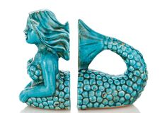 Ceramic Mermaid Bookends on One Kings Lane today
