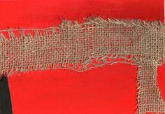 Alberto Burri, Sacco rosso, 1954
