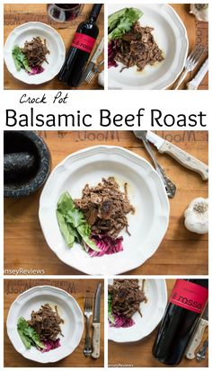Crock Pot Balsamic Beef Roast. Tangy, slightly sweet, incredibly scrumptious fall meal! Pair with a big, Italian red wine.